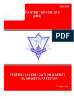 MOST WANTED TERRORISTS List Of FIA Pakistan 2009