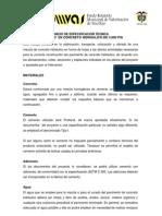 Especificaciones Tecnicas Pav.
