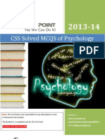 CSS Solved MCQS of Psychology