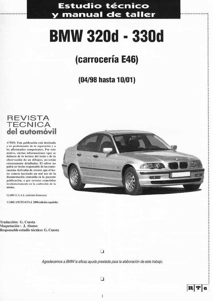 manual de taller bmw e46 diesel 320d 330d espa ol rh es scribd com bmw e46 320d repair manual pdf bmw e46 320d manual book