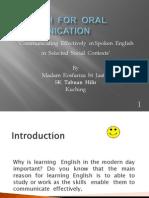 English for Oral Communication-Rosfariza