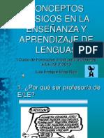 Coceptos básicos en la enseñanza y aprendizaje de lenguas