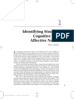 Identifying students affective and cognitive needs