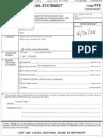 Amarillo City Commissioner Brian Eades 2008 ethics form
