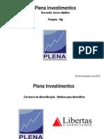 DIAGNOSTICO DA POLÍTICA DE INVESTIMENTOS 2012