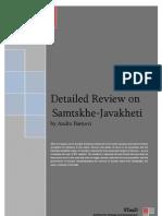 Detailed Review on Samtskhe-Javakheti