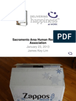 Delivering Happiness at Work - SAHRA - Jan 2013