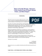 An Oral History of Gestalt Therapy