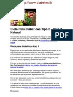 Dieta Especial Para La Diabetes Tipo 2