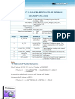 IP2Location™ IP Country Region City ISP Specification