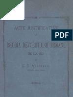 C.D. Aricescu--Istoria revolutiunii romane la 1821. Acte