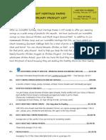 Khf February Product List