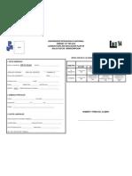 formato de reinscripción semestre febrero julio 2013 Lic. en Educación Plan 1994