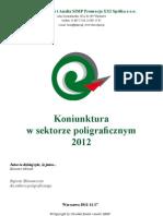 Koniunktura w Sektorze Poligraficznym 2012