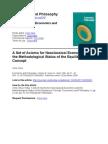 Vilks A set of Axioms for Neoclassical Economics