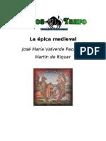 Valverde Pacheco J M Riquer Martin de La Epica Medieval