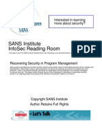 Recovering Security in Program Management