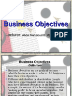 Bussines objectives lec (3)