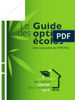 Guide des options ecolos