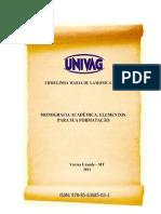 Monografia acadêmica Manual
