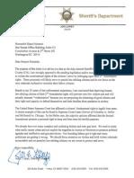 Sheriff Jon Lopey Letter To Diane Feinstein