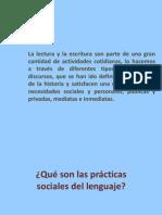 qué son las prácticas sociales del lenguaje