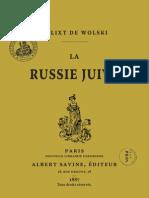 Wolski Kalixt de - La Russie Juive (1887)