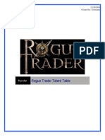 Rogue Trader Talent List