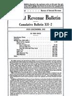 Bureau of Internal Revenue Cumulative Bulletin XII-2 (1933)