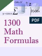 1300 Math Formulas