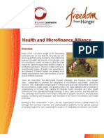 Health and Microfinanace Alliance (Oct 2012)