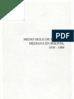 Medio siglo de minería mediana en Bolivia, 1939-1989