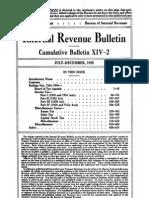 Bureau of Internal Revenue Cumulative Bulletin XIV-2 (1935)