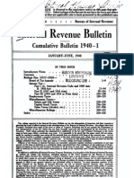 Bureau of Internal Revenue Cumulative Bulletin 1940-1