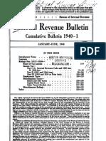 Bureau of Internal Revenue Cumulative Bulletin 1940-1