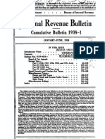 Bureau of Internal Revenue Cumulative Bulletin 1938-1