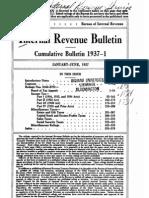 Bureau of Internal Revenue Cumulative Bulletin 1937-1
