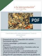 Contra la interpretación