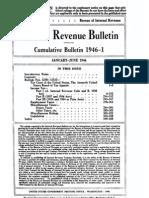 Bureau of Internal Revenue Cumulative Bulletin 1946-1