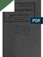 Bureau of Internal Revenue Cumulative Bulletin 1951-1