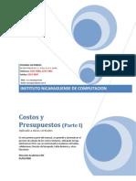 Costos y Presupuestos Para CD - Parte 1