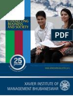 ximb admission bulletin 2013