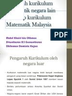 pengaruh kurikulum matematik negara lain terhadap kurikulum di Malaysia