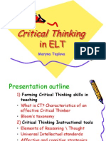 critical_thinking_in the classroom тренинг успех