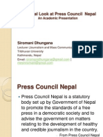 A Critical Look At Press Council Nepal