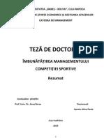 Managementul competițiilor sportive