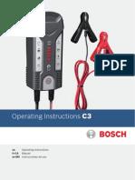 Manual incarcator baterie Bosch C3
