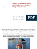 Information Systems Damage after the Sept 11, 2001 attack