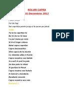 Roluri Capra 2012