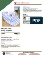 Heaven Sent Baby Blanket